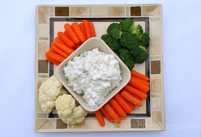 Veggie Dip with fresh vegetables