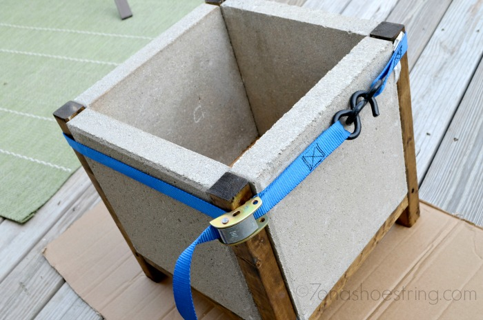 allow concrete adhesive to dry