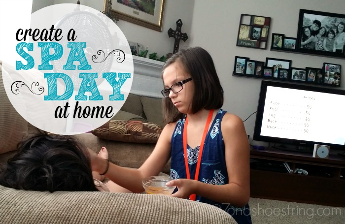 create a spa day at home