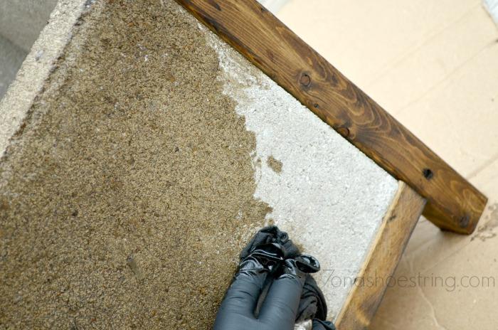 staining concrete pavers