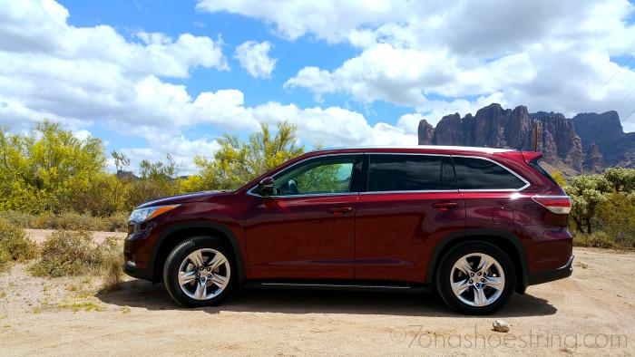 2015 Toyota Highlander Arizona day trips