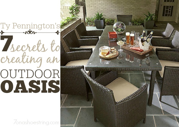 7 secrets to creating an outdoor oasis