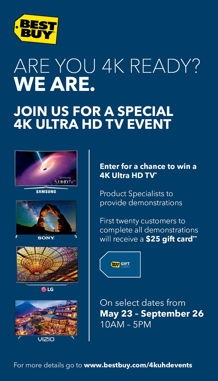 Best Buy 4K Ultra HD TV event