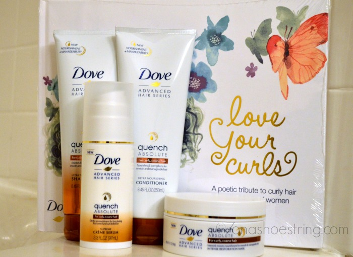 Dove Love Your Curls hair series