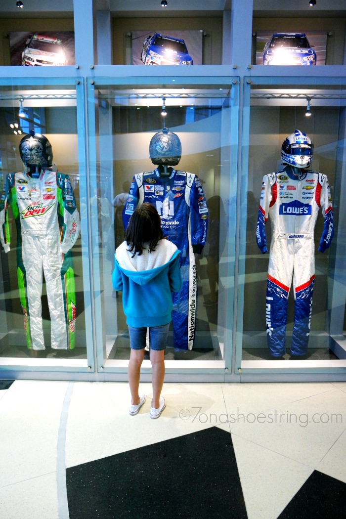 Driver suits at Hendrick Motorsports