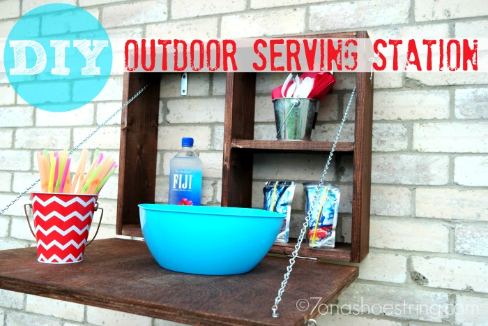 DIY Outdoor Serving Station