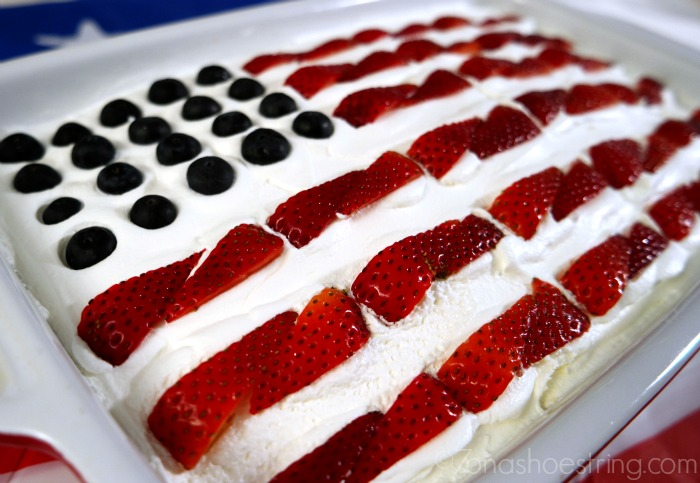 Strawberry Shortcake Flag Cake