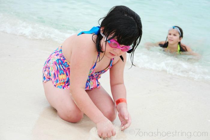 sunscreen on the beach