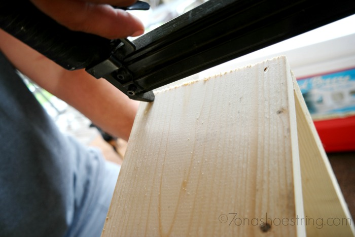 use nailer to assemble wood box
