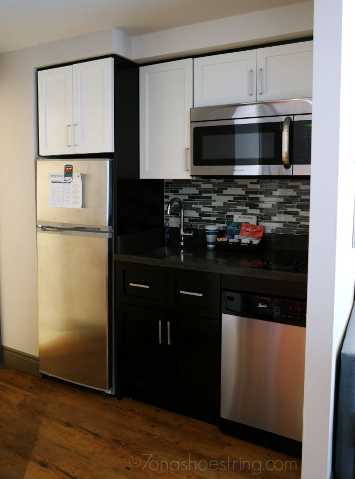 Homewood Suites fully equipped kitchen