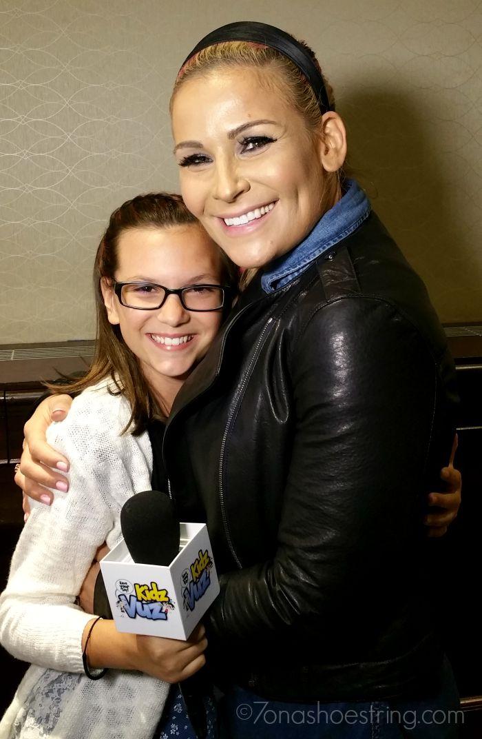 Jaden with WWE Diva Natalya