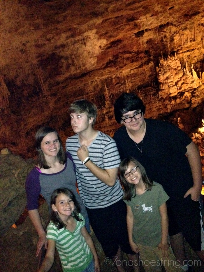 Natural Bridge Caverns with family