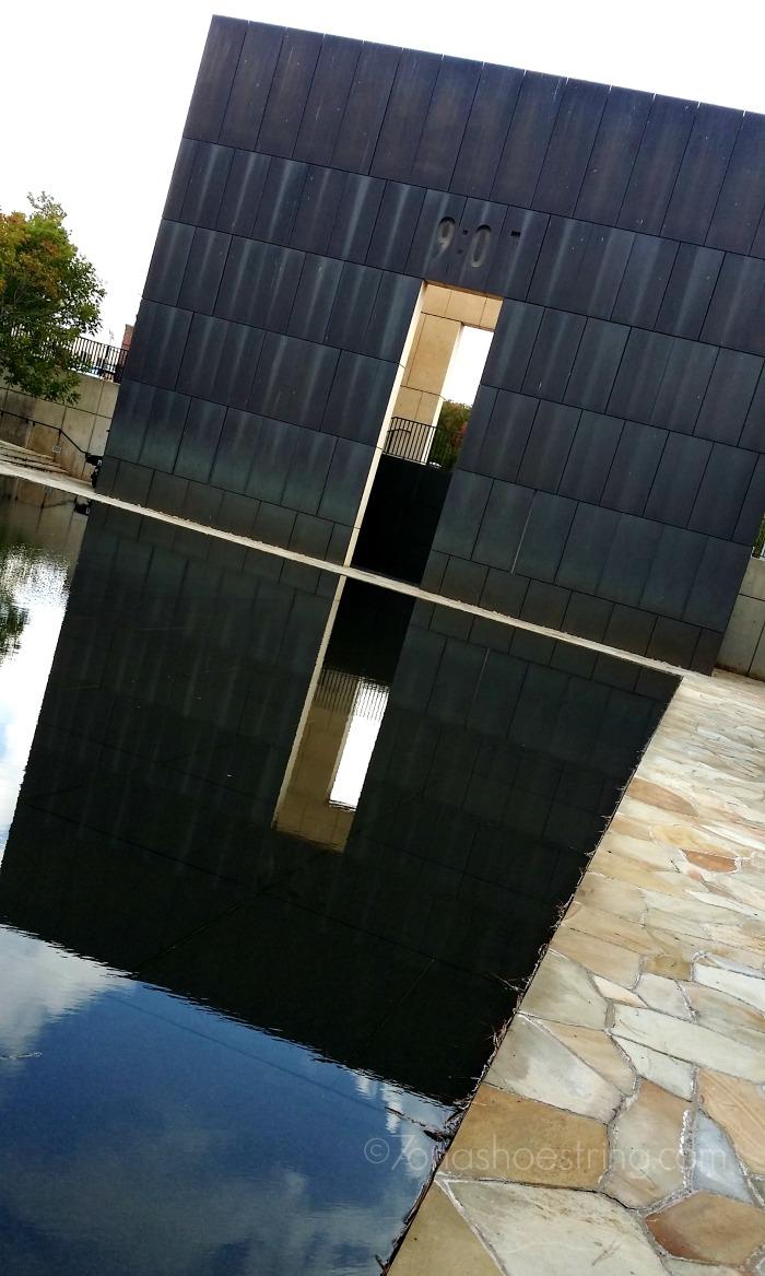 Oklahoma City Memorial reflection pool