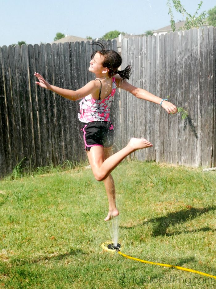 backyard sprinkler play