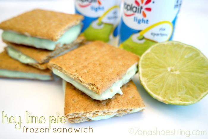 Summer Snacking: Yoplait® Yogurt Key Lime Pie Frozen Sandwich #ad