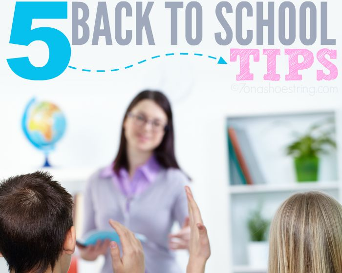 Little Planning Goes a Long Way :: 5 Back to School Tips