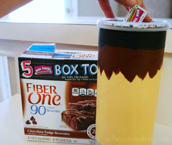 DIY Box Tops for Education Collection Container
