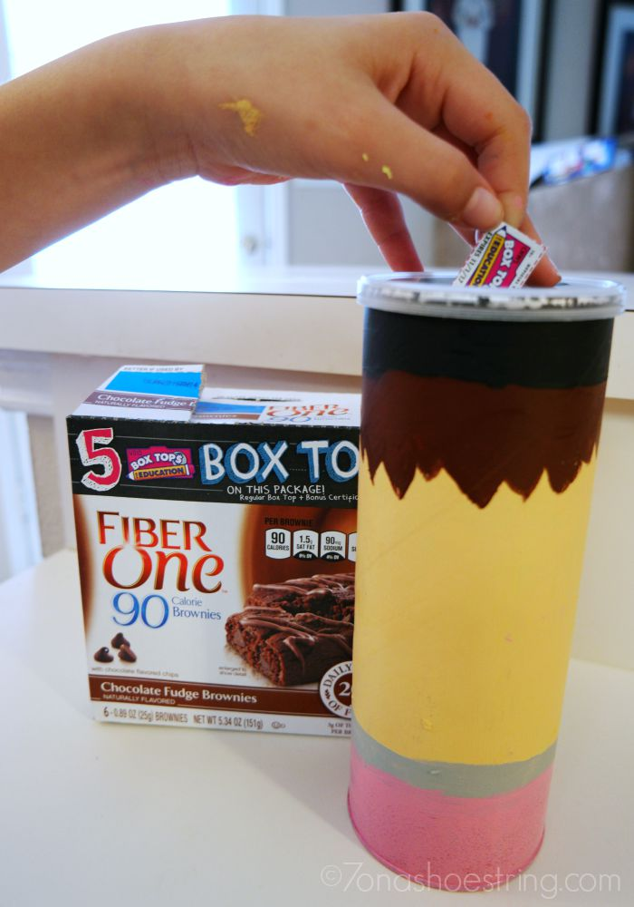 Box Tops collection canister