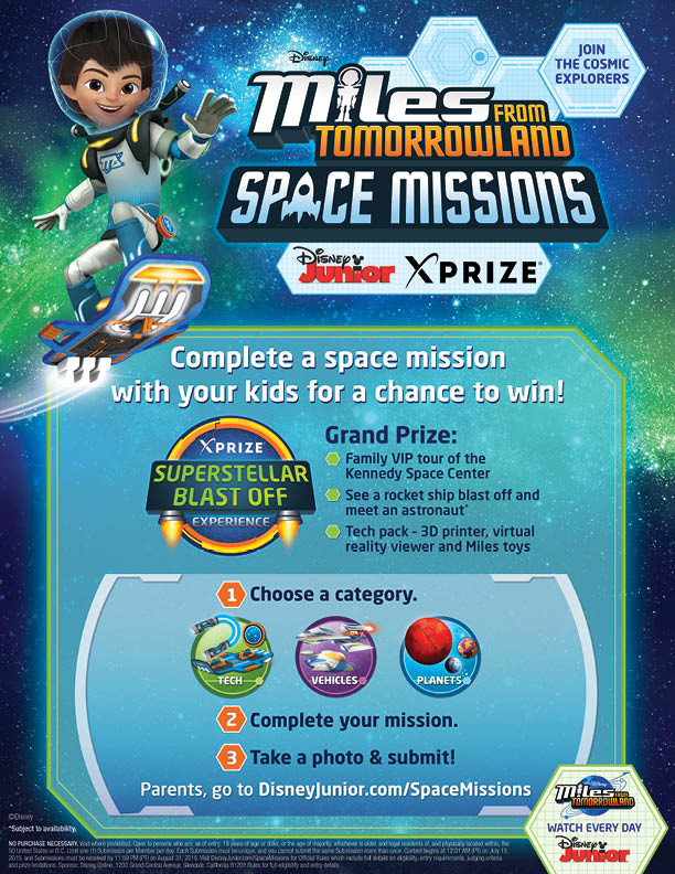 Miles from Tomorrowland Space Missions sweepstakes