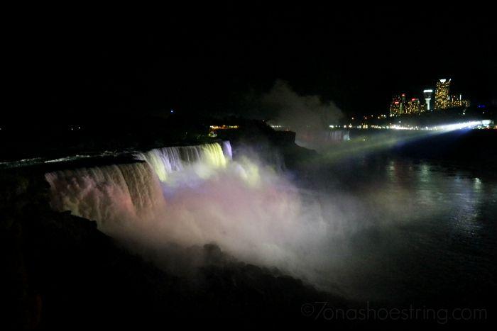 Niagara Falls NYC at night