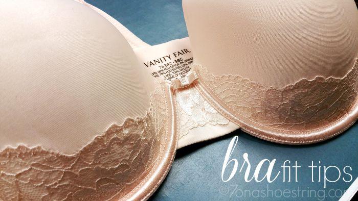 Vanity Fair bra fit tips