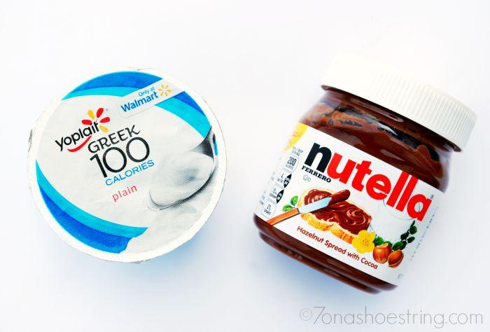 Yoplait Greek Yogurt + Nutella = Creamy Dip