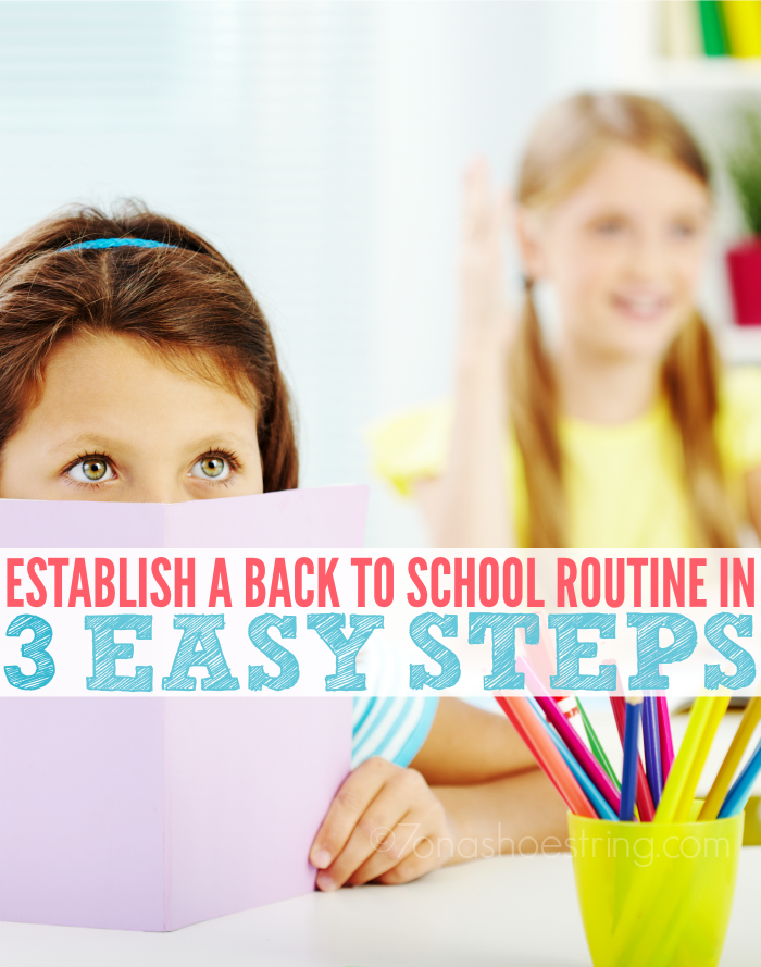 establish a back to school routine in 3 easy steps