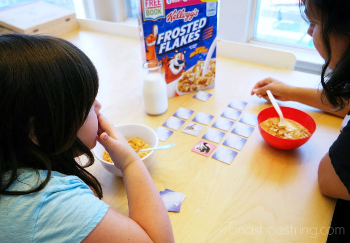 fun over breakfast with Frosted Flakes