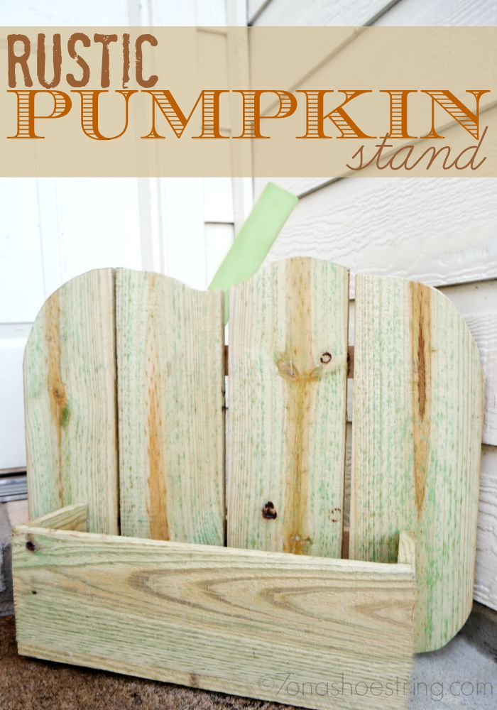 Rustic Pumpkin Stand Makes Fabulous Fall Decor