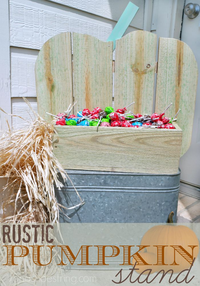 Rustic Pumpkin Stand Makes Fabulous Fall Decor : The Home Depot