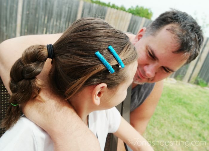 Teaching Dad to Braid with Goody Hair Products