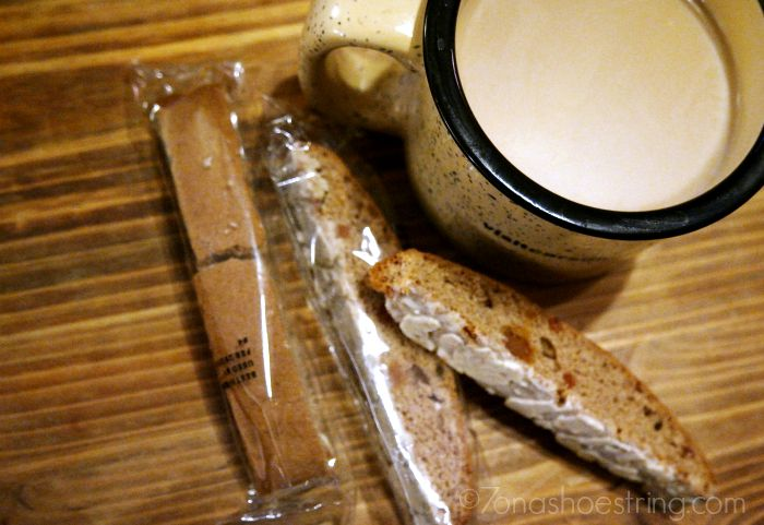Archer Farms coffee and biscotti