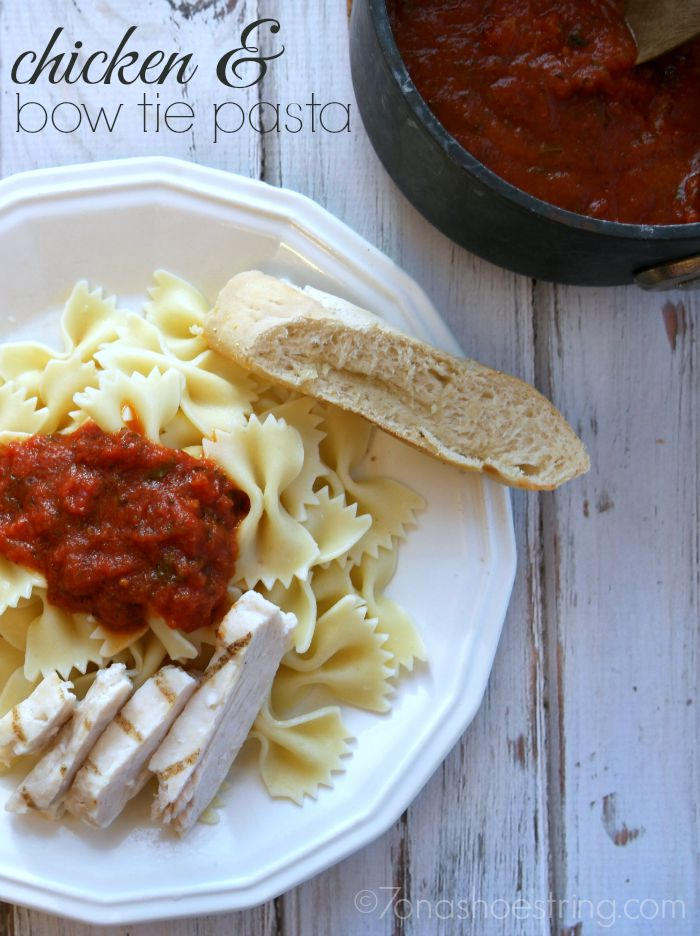 Chicken and Bow Tie Pasta with Bertolli