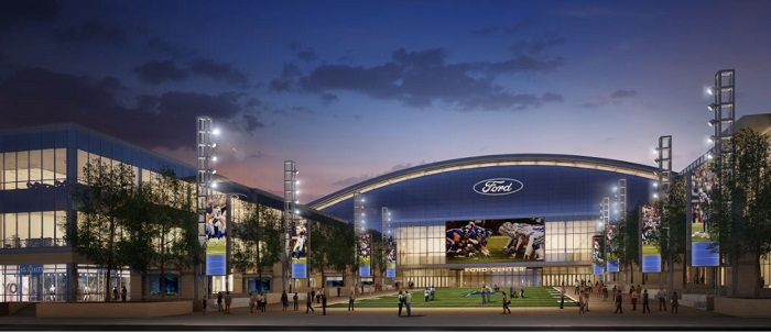 Dallas Cowboys' New Frisco World Headquarters and Multi-Use Event Center to Be Called The Ford Center at The Star