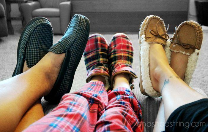 Dearfoams slippers for family