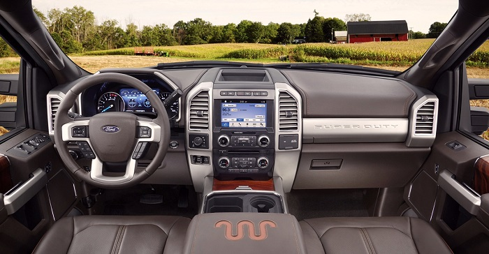2017 Ford Super Duty dash