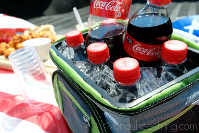 cooler full of ice to keep the Coca-Cola nice and cold