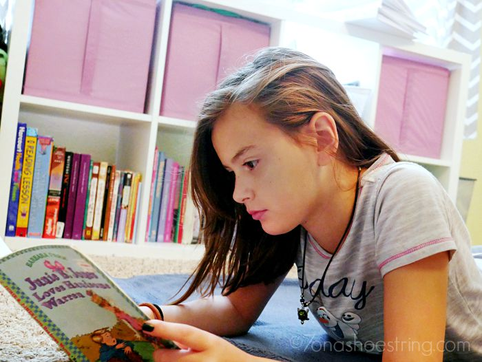 reading in homeschool library