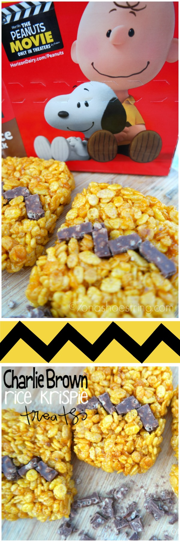 Charlie Brown Rice Krispie Treats