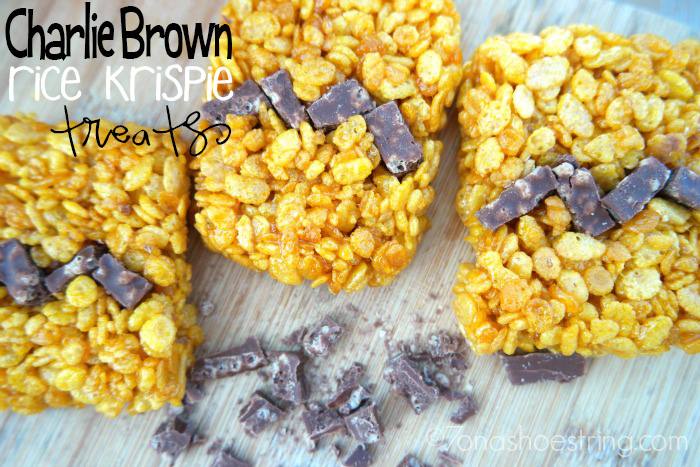 Charlie Brown Rice Krispie Treats