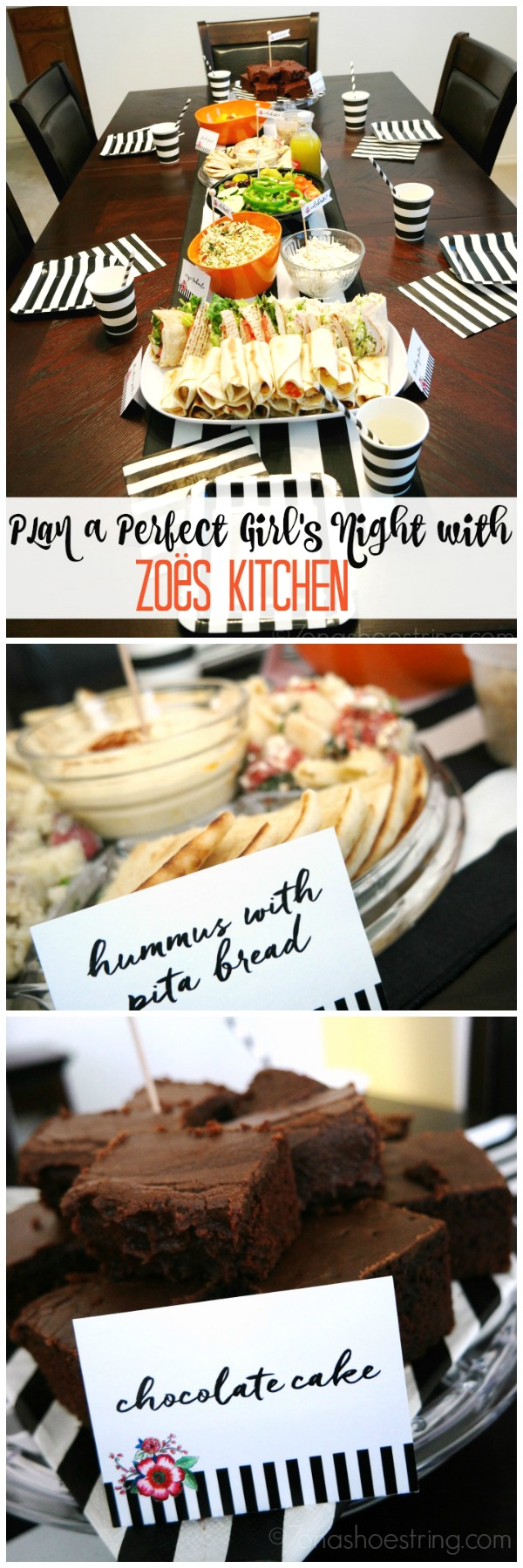 Plan a Perfect Girls' Night with Zoës Kitchen Catering #ZoesCaters #ad