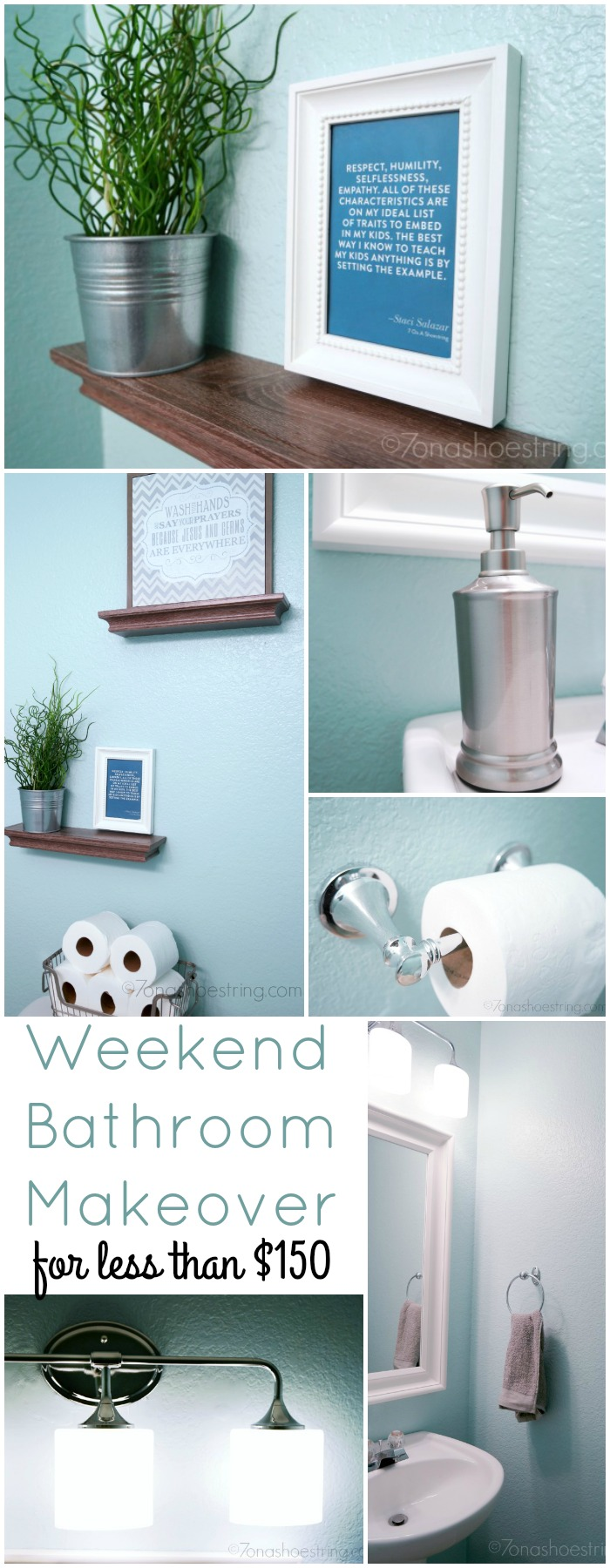 Weekend Bathroom Makeover for less than $150