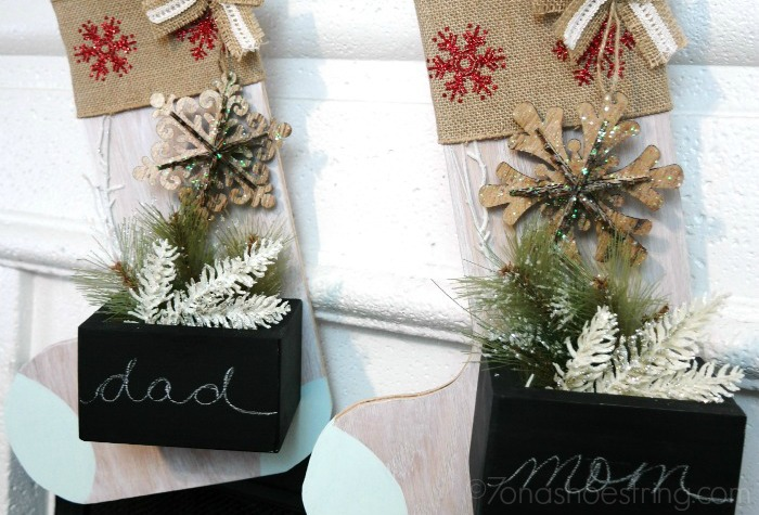 Dress Up Your Holiday Mantle with Wooden Stocking Hangers