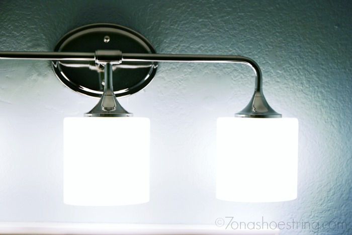 bathroom makeover light fixture