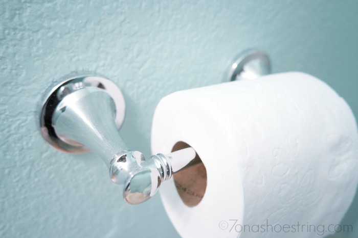bathroom makeover toilet paper holder