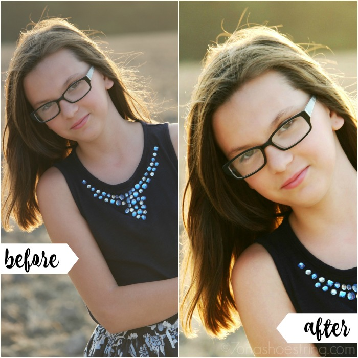 before and after Photoshop CC