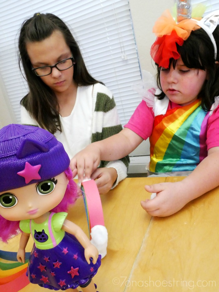 creating rainbows with Little Charmers