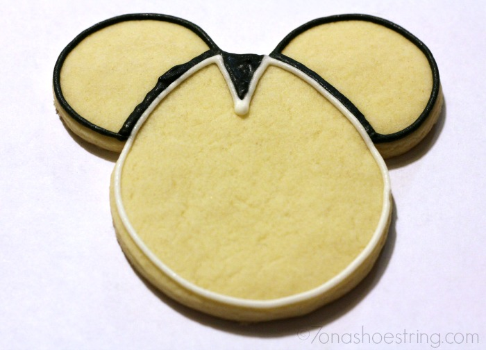 Star Wars Mickey Anakin cookie template