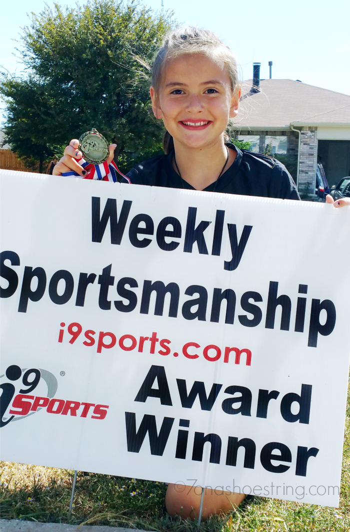 Weekly Sportsmanship Award for courtesy