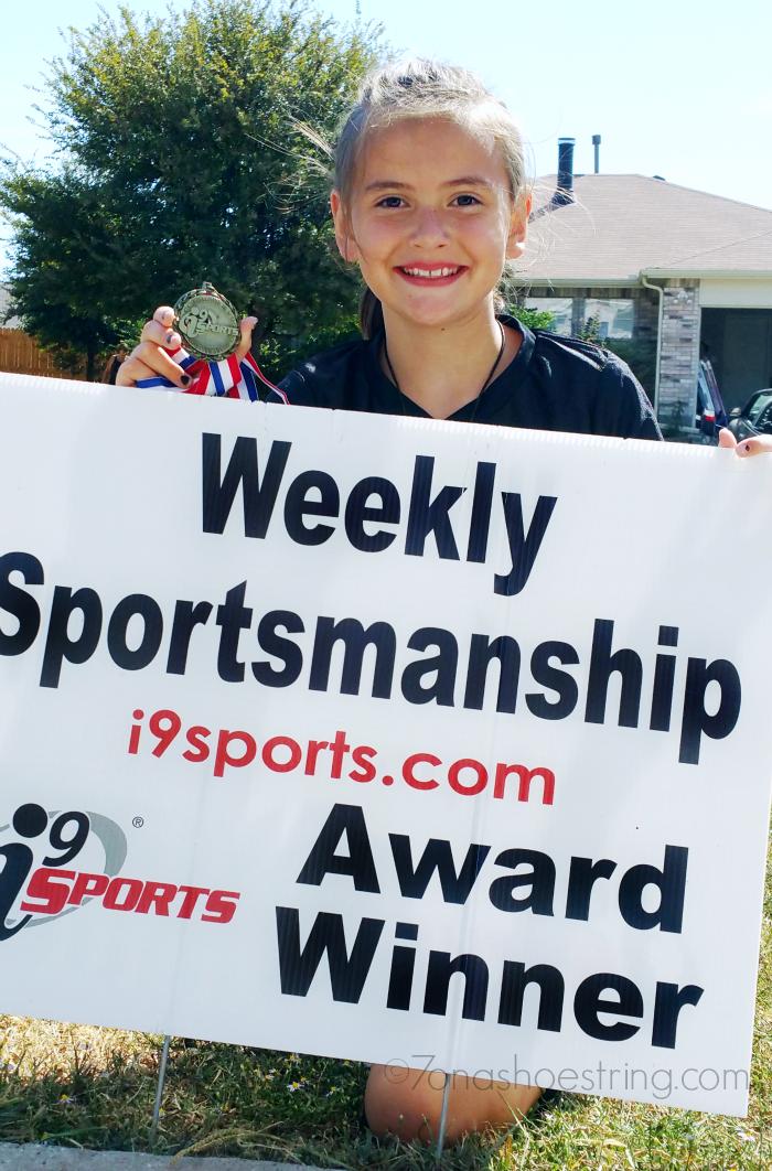 Weekly Sportsmanship Award for courtesy